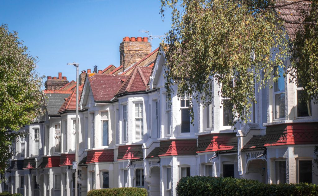 row of Victorian homes in Wandsworth London