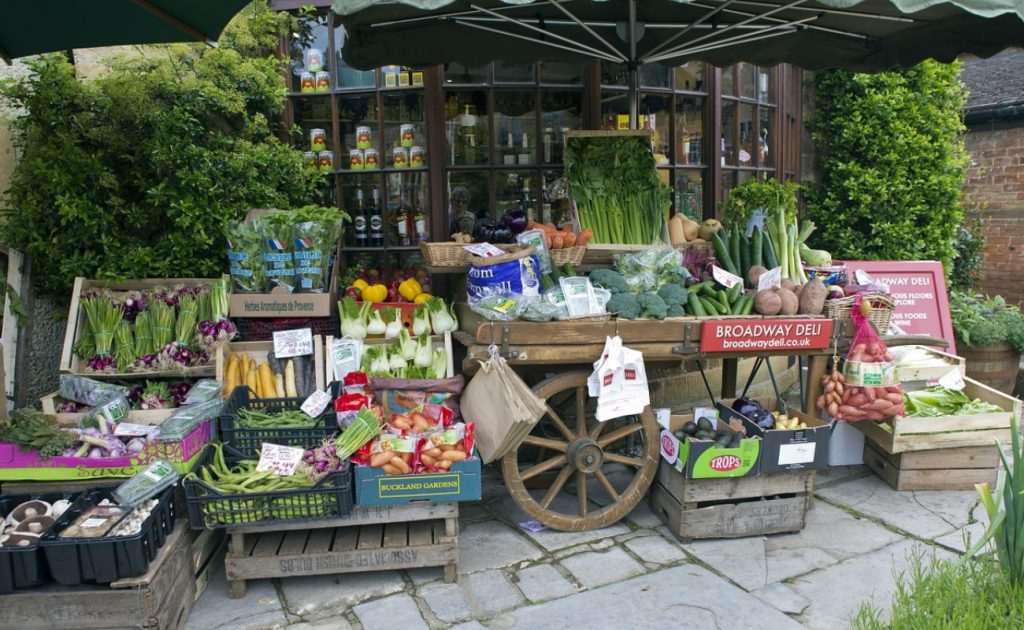 farmers market stall at Broadway Market in Wandsworth
